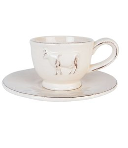 "Kaffeetasse mit Untertasse ""Kuh Emma"""
