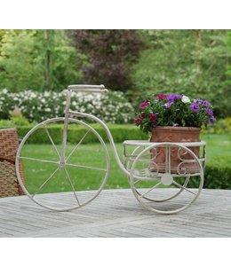 Pflanzenhalter Fahrrad Antik-Weiß