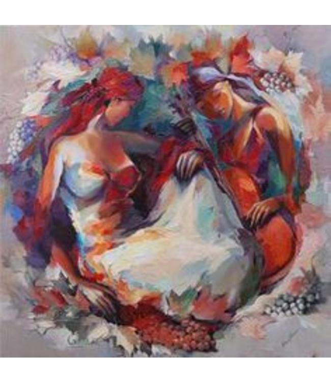 """Gemälde """"Antalia Garten"""" Terracotta"""