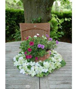 Blumenkranz Hortensien aus Seide (3 Farben)