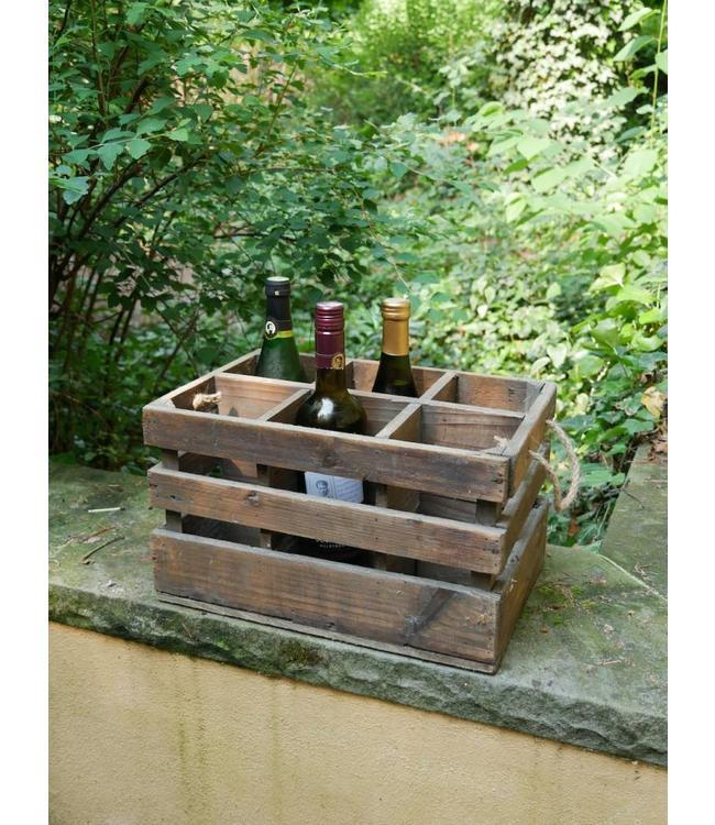 Rustikale Weinkiste aus Holz