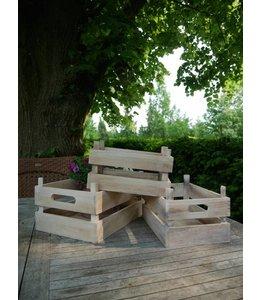 Holzkisten mit Griff - 3er-Set