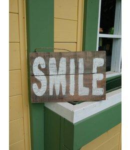 Holzschild Smile
