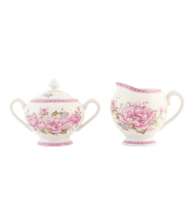 """Milchkanne & Zuckerdose """"Elegant rose"""""""