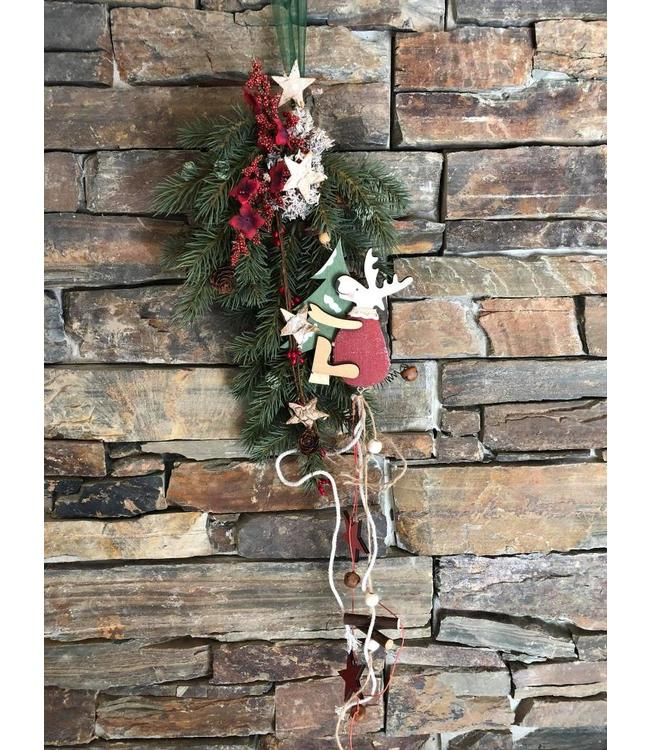 Weihnachtsdekoration Zweig mit Rentier
