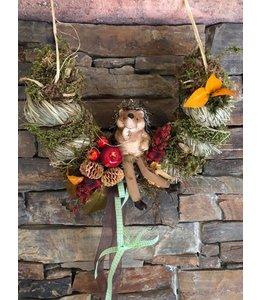 Landhaus Herbstdeko Herbstdeko mit Igel