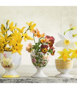 "Servietten Vintage Servietten ""Blooming egg cups"""