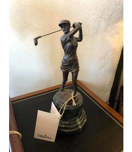 """Bronzefigur """"Golfspielerin"""""""