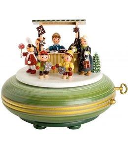 """KWO Spieldose """"Weihnachtsmarkt"""""""