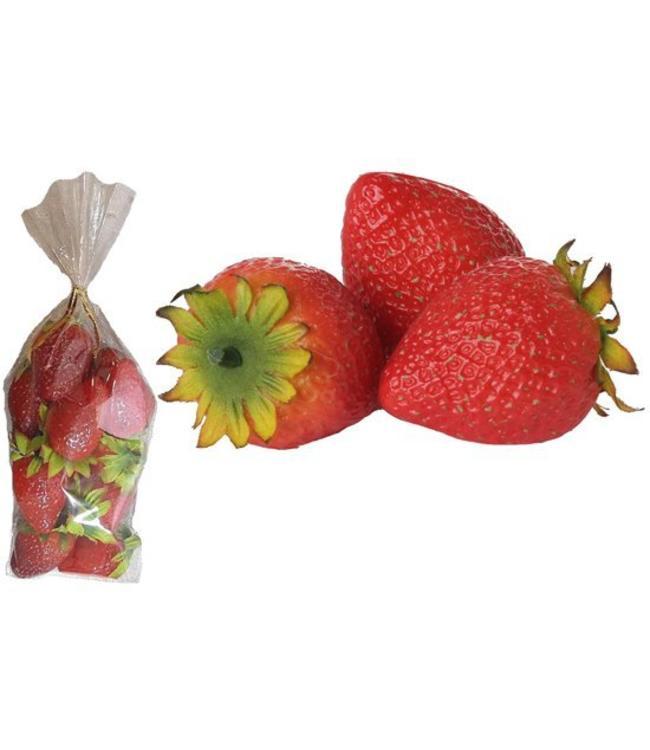 Künstliche Erdbeeren (1 Packung = 12 Stück)