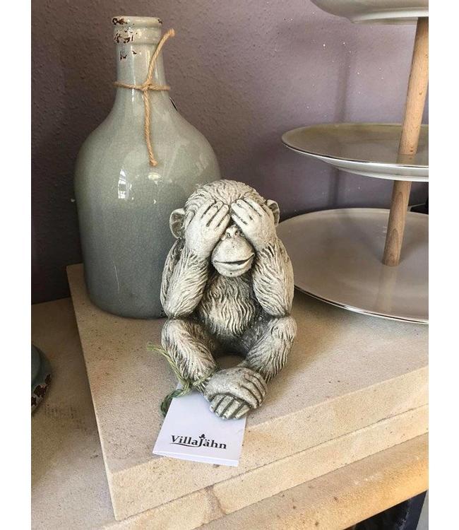 """Steinfigur Affe """"Nichts sehen"""""""