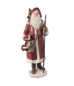 Clayre & Eef Nostalgischer Weihnachtsmann mit Waldhorn