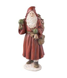 Clayre & Eef Nostalgischer Weihnachtsmann mit Glocke