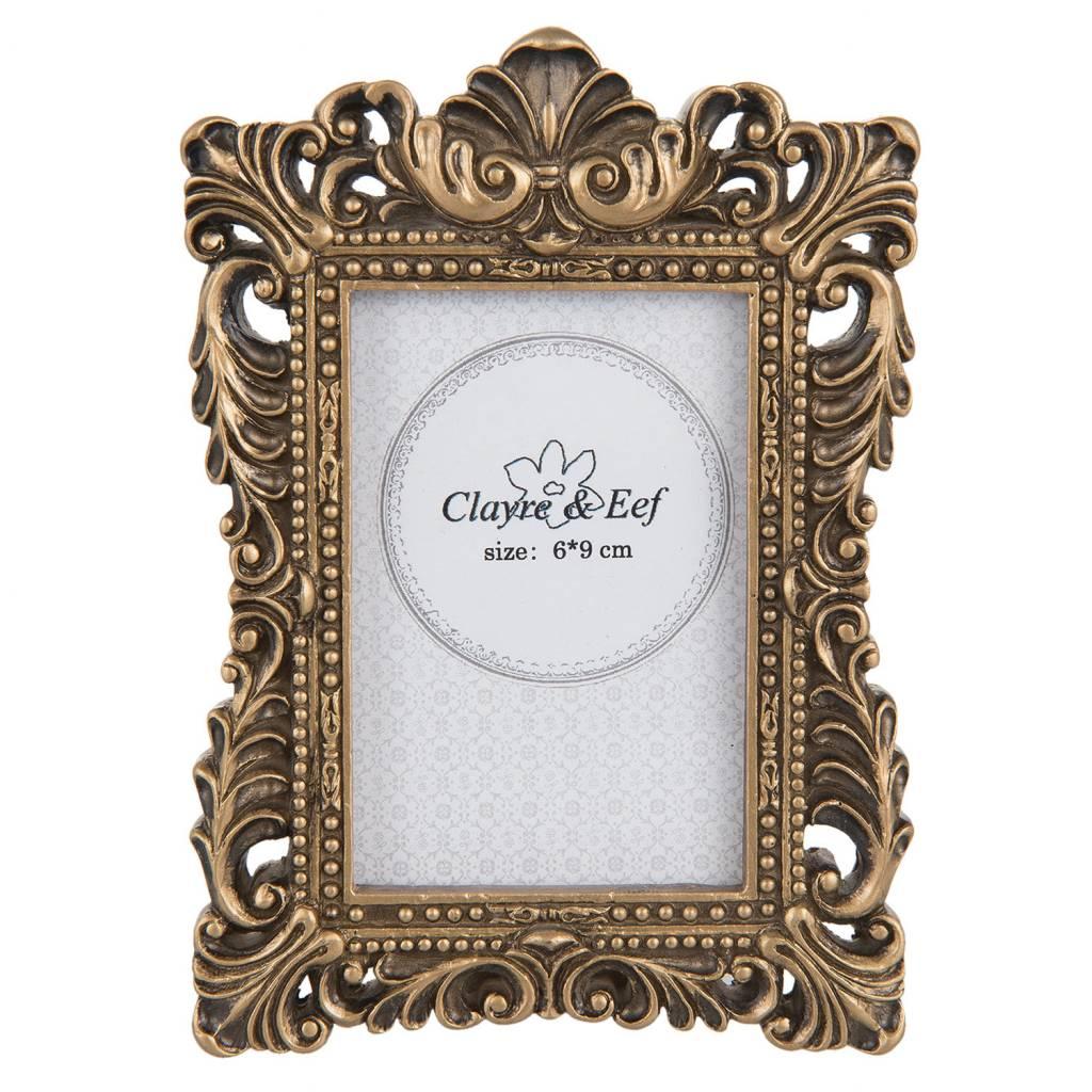 Bilderrahmen Fotorahmen 10 x 15 cm Deko silber-gold Landhaus Antik Shabby Clayre