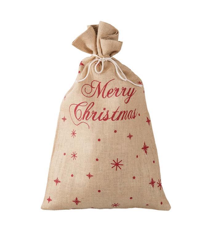 """Clayre & Eef Jute-Sack """"Merry Christmas"""""""