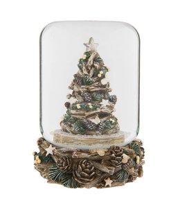 """Weihnachtsdeko Vintage Nostalgische Schneekugel """"Weihnachtsbaum"""""""