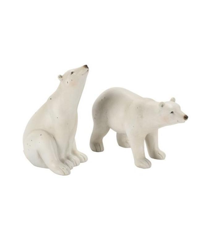Deko Eisbär, 2 Motive, Nordischer Landhausstil