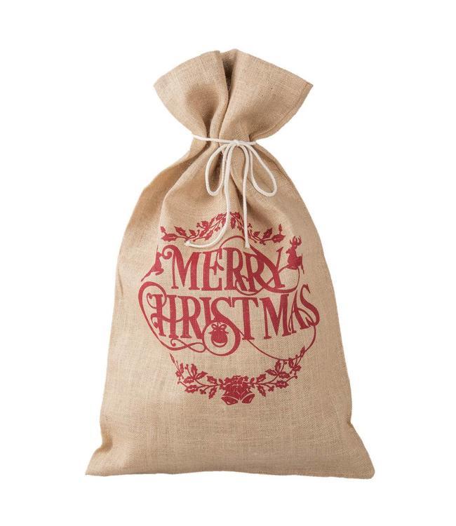 """Clayre & Eef Nostalgischer Jute-Sack """"Merry Christmas"""""""