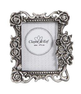 Bilderrahmen im Landhausstil (Foto 4x5) Silber