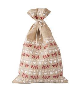 """Weihnachtsmann Sack """"Jute"""" 50x80 Vintage"""