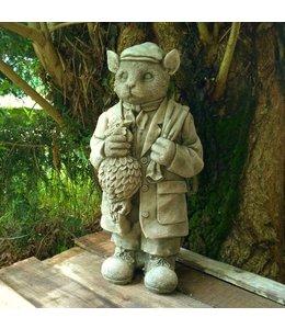 """Gartenfigur """"Britischer Wilddieb"""" Antik-Patina"""