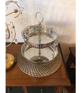 Etagere Vintage Etagere mit Engel, Silber, Moderner Landhausstil