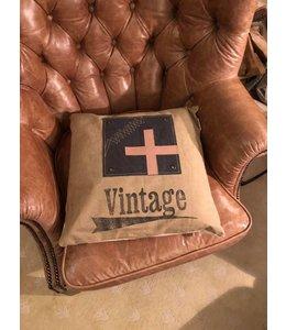 Dekokissen Vintage, 45x45, Baumwolle, Englischer Landhausstil