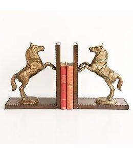 "Buchstützen-Set ""Pferde"" Leder"