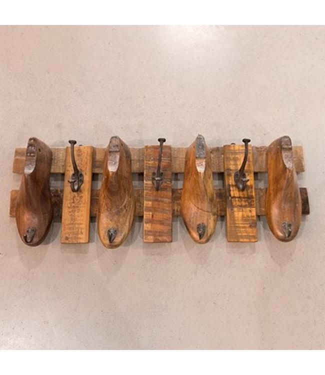 Wandgarderobe Antique, Holz, Rustikaler Landhausstil