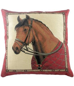 "Kissen Vintage Kissenhülle ""Equestrian Red"" 45x45"