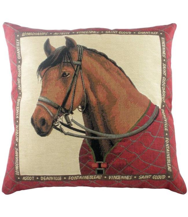 "Kissenhülle ""Equestrian Red"" 45x45"