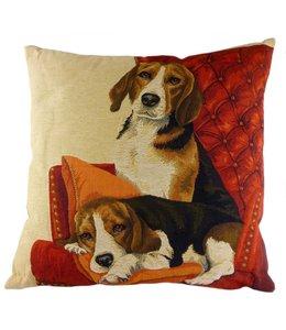 """Kissen Vintage Kissenhülle """"Beagle"""" 45x45"""