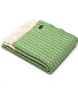 """Wolldecken Vintage Wolldecke """"Zigzag Green"""""""
