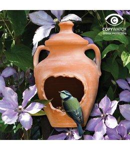 "Vogelhaus ""Terracotta-Vase"""