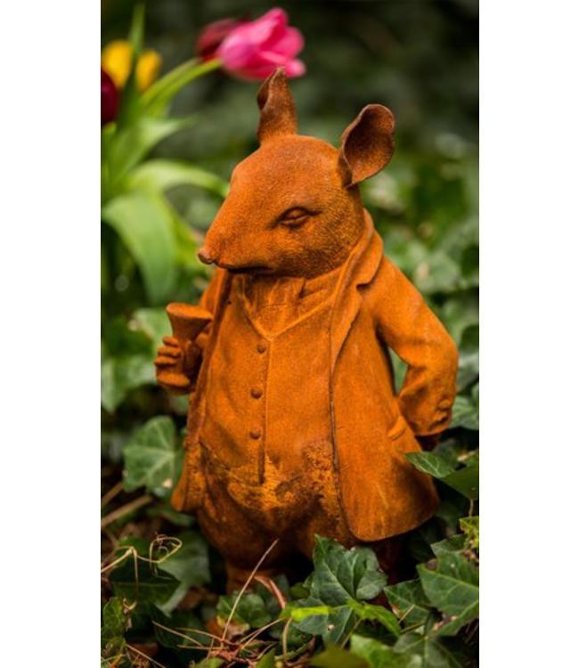 "Gartenfigur ""Mr. Ratty aus England"""