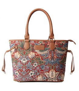 "Handtasche ""Strawberry Thief Red"""