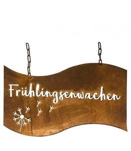 """Rostiges Deko-Schild """"Frühlingserwachen"""""""