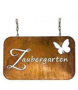 """Gartendeko Vintage Dekoschild Edelrost """"Zaubergarten"""""""