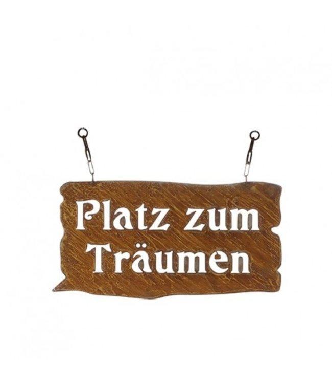 """Dekoschild Rostig """"Platz zum Träumen"""""""