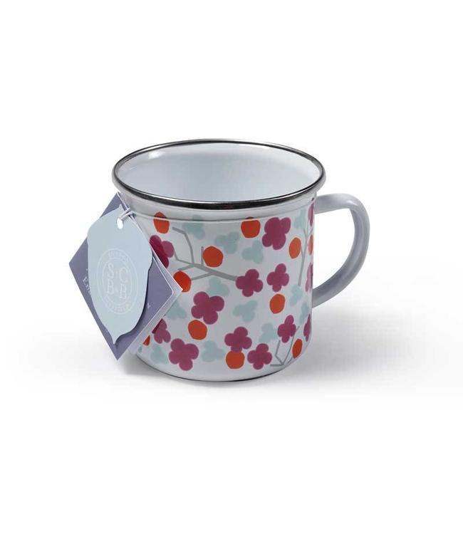 "Burgon & Ball 2er Set Emaille-Tasse ""Cherry Blossom"" Sophie Conran"