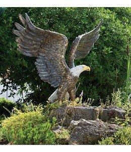 Gartendeko Vintage Bronzefigur Weißkopf-Seeadler