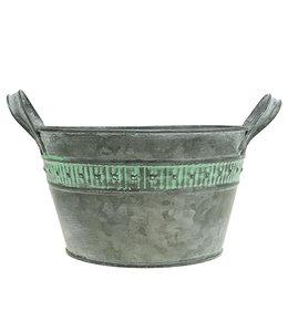 Pflanzschale Ø18,5cm H10,5cm Zink