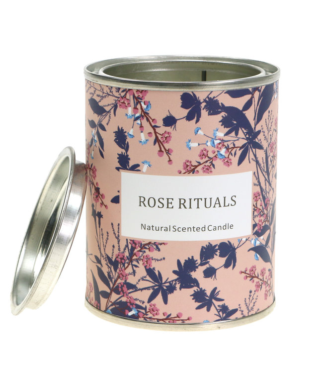 Duftkerze Rose in Blumendose