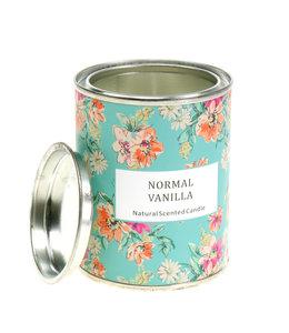 Duftkerze Vanille in Blumendose
