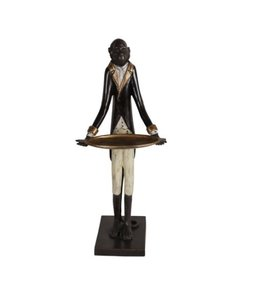 Deko-Affe mit Tablett, Bronze, Vintage Sonderpatina