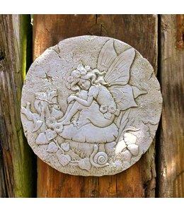 "Filigraner Wandteller ""Fee"" aus englischer Handarbeit"