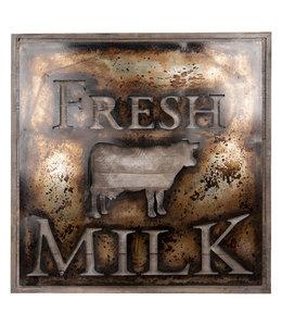 "Wandbild Vintage ""Kuh - Fresh Milk"" 60x60"