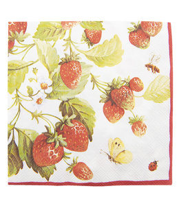 """Clayre & Eef  Papierservietten """"Erdbeeren"""" 20er Pack"""