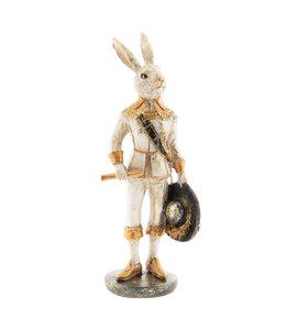 """Osterhase Vintage """"Hase Sir Rabbit mit Hut"""""""
