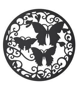 """Clayre & Eef Wanddeko """"Schmetterlinge"""" Metall"""